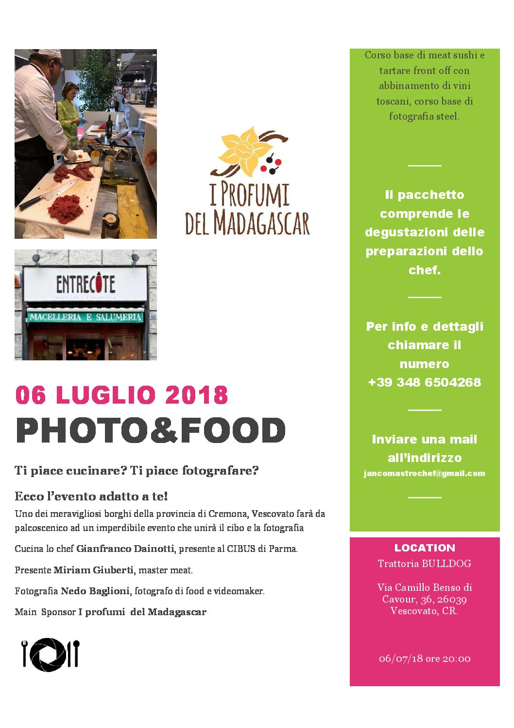 PHOTO & FOOD – 6 Luglio 2018