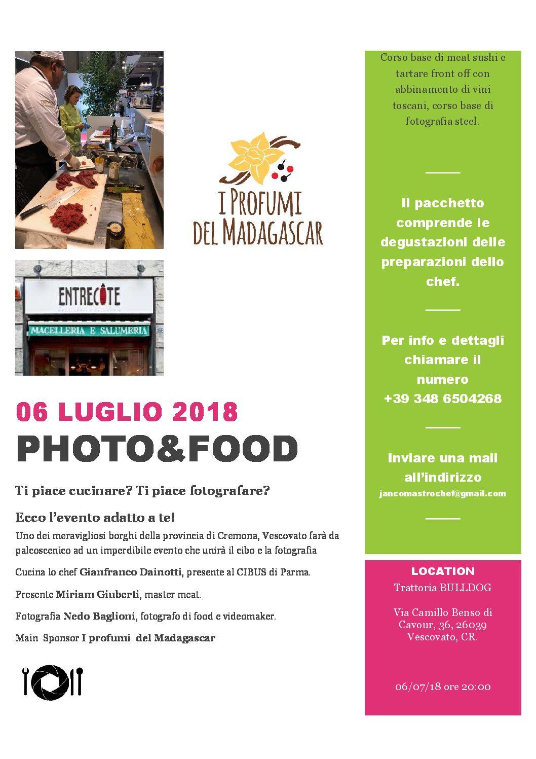 PHOTO & FOOD – 6 Luglio 2018